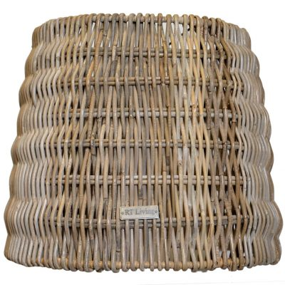 04/6654 Tall Round Grey Rattan Lampshade