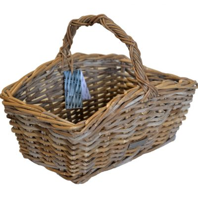 05/61611 Oblong Grey Shaped Shopping Basket