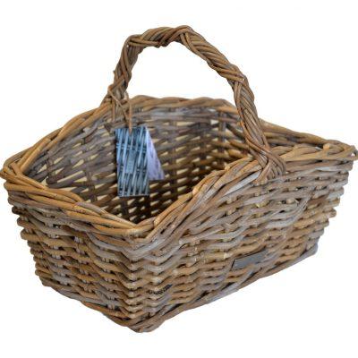05/61611 Oblong Grey Shaped Shopping Basket