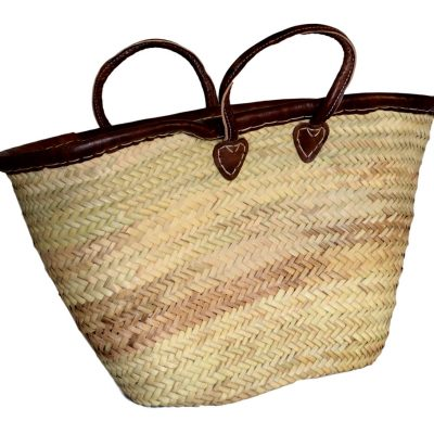 05/4630RA palm shopper with leather rim