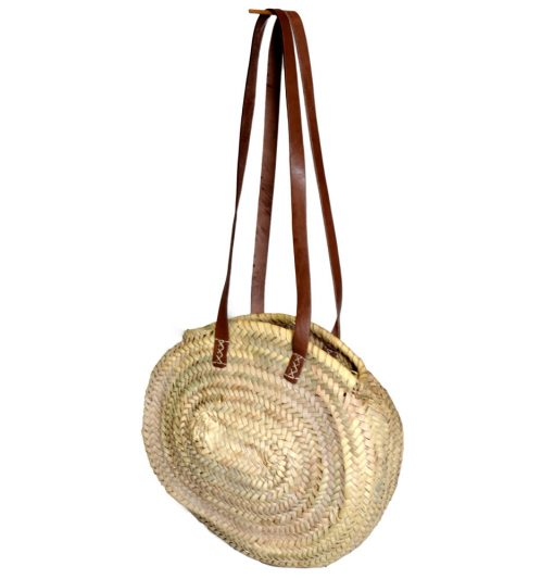 05/50070 Small Round Palm Shopper with Half Length Shoulder Handles