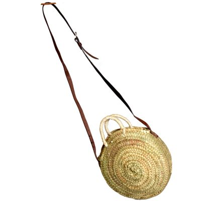 05/50075 Round Palm Shopper with shoulder Strap and Handles