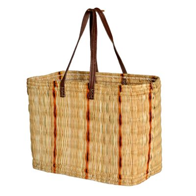 05/6135S Small Oblong Striped Bulrush Shopper