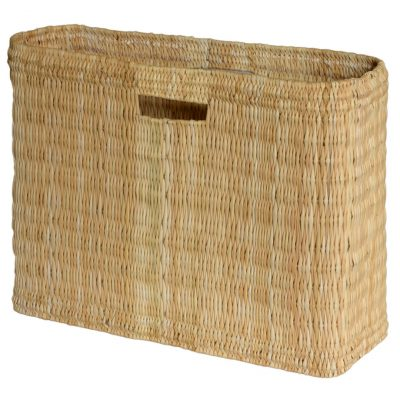 05/6178L Large Oblong Bulrush Shopper/Storage Basket with Finger Holes