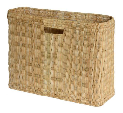 05/6178L Large Oblong Bulrush Shopper/Storage Basket with Finger Holes