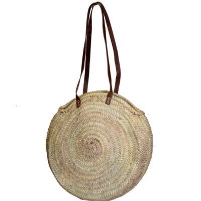 05/75G Large Round Palm Shopper with Half Length Shoulder Straps