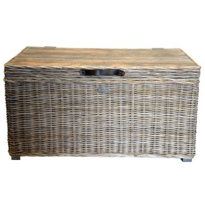 13/8028L Large Grey Mango Wood Trunk Closed