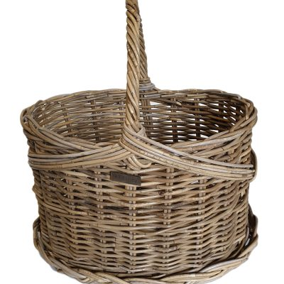 05/5078L Large Oval Grey Flower Basket