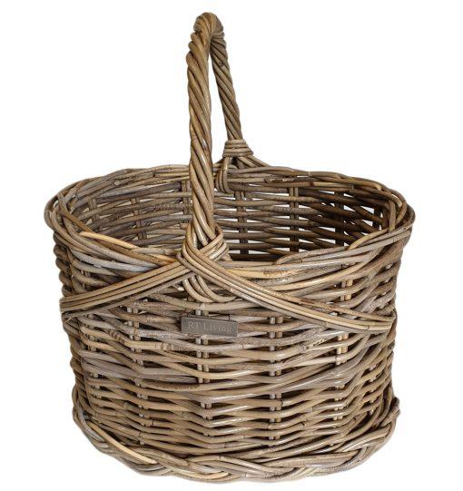 05/5078S Small Oval Grey Flower Basket