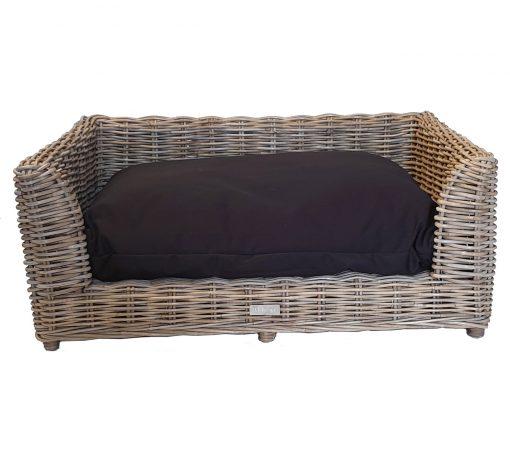 09/5015M Medium Oblong Grey Raised Dog Bed with Cushion