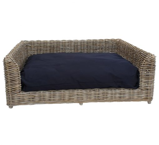 09/5015XL Extra Large Oblong Grey Raised Dog Bed with Cushion