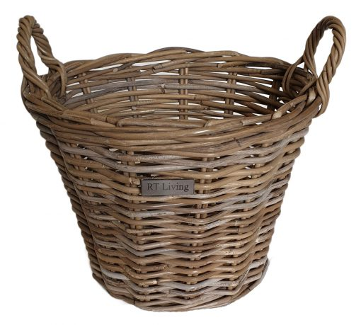 10/5006 Small Round Grey Kindling/Log Basket