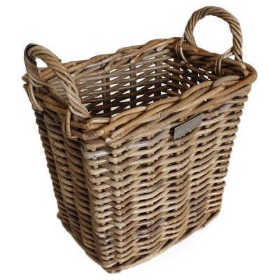 11/5005 Small Oblong Grey Storage/Kindling Basket