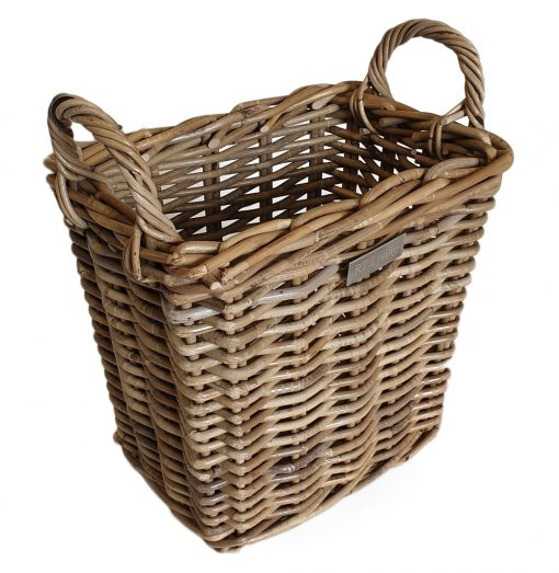 11/5005 Small Oblong Grey Storage/Kindling Basket