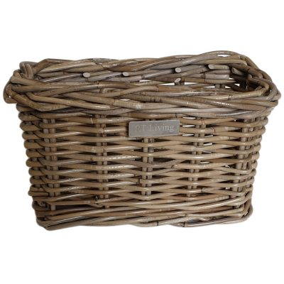 11/5107 Small Deep Oblong Grey Storage Basket
