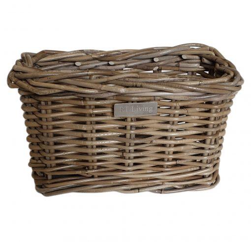 11/5107 Small Deep Oblong Grey Storage Basket