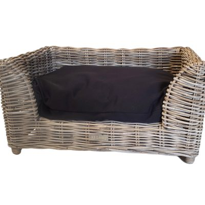 09/5015S Small Oblong Grey Raised Dog Bed with Cushion