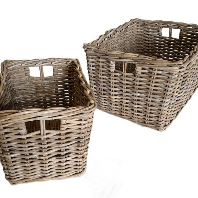11/6865 Deep Oblong Grey Storage Baskets