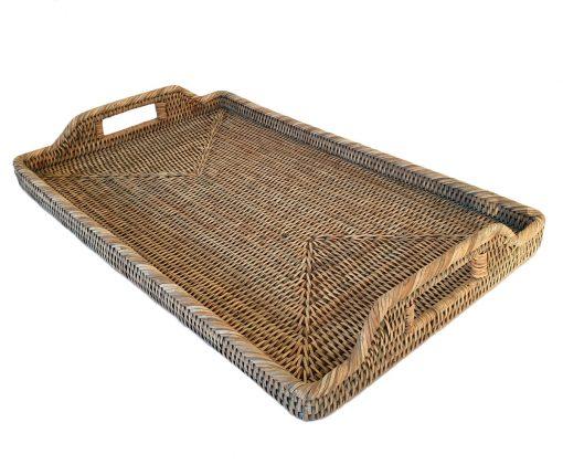 03-9001G Large Grey Oblong Morning Tray