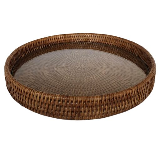 03-9799 Round Cheese Tray with Glass Base