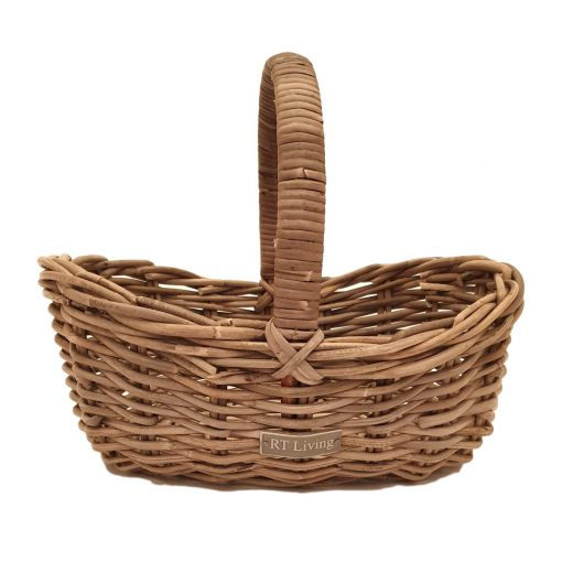 05-6161081 Oval Grey Scooped Shopping Basket