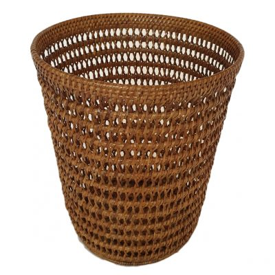 11-9037 Round Open Weave Waste Paper Basket